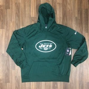 🏈 NWT Nike New York Jets Therma-Fit Sweatshirt XL